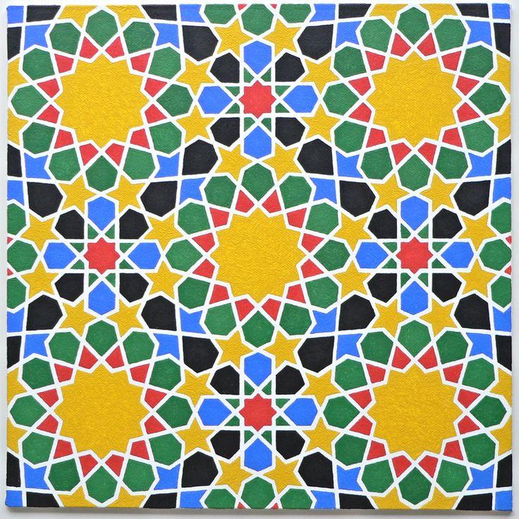 'Marokko' - Painting by Ton Ensink 30 x 30 cm , Acrylic paint on canvasboard.