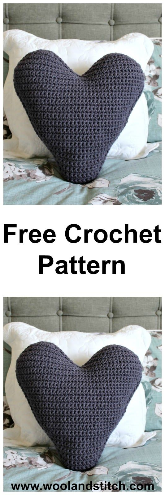Chunky Heart Cushion - Free Crochet Pattern
