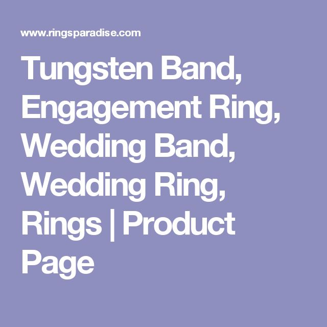 Tungsten Band, Engagement Ring, Wedding Band, Wedding Ring, Rings    Product Page