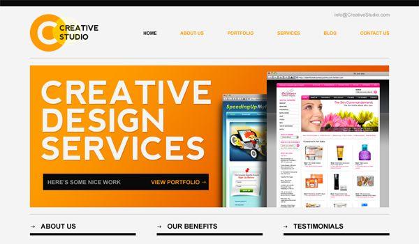 Sleek - Minimal Website PSD Template