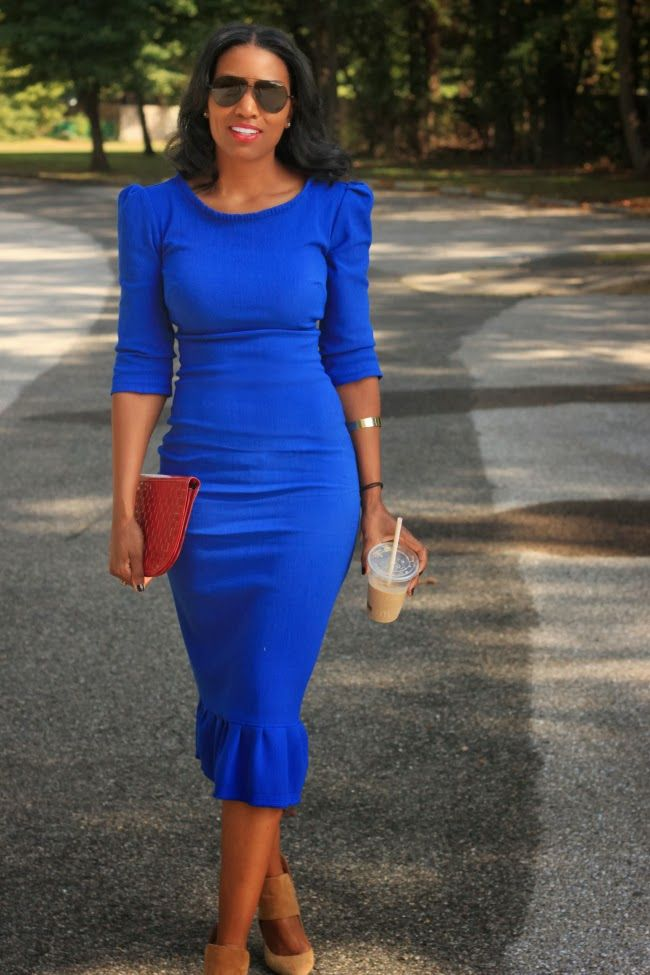 Blue dress and shoes outfits