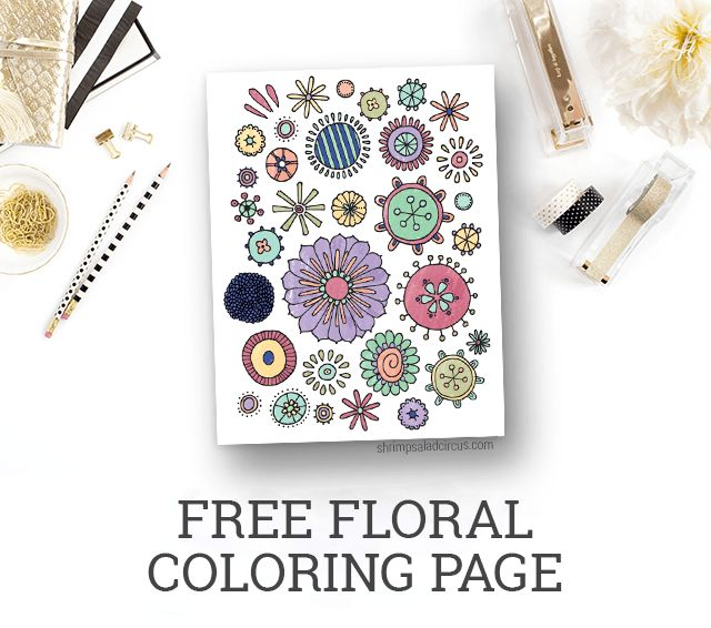 Free Floral Coloring Page Printable