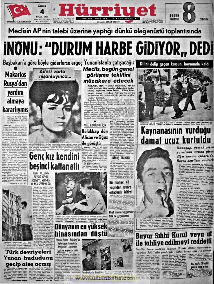 Hürriyet gazetesi 4 eylül 1964