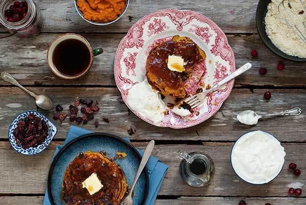 Post image for Gluten Free Pumpkin and Cranberry Pancakes Recipe