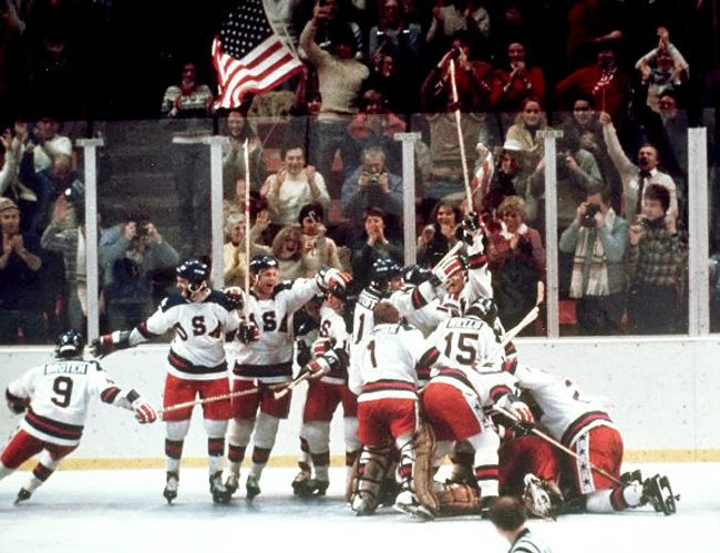 Memorable Olympic Moments - In one of the biggest upsets in sports history, the US hockey team defeated the Soviet Union during the 1980 Olympics in Lake Placid, NY. The event is know as the Miracle on Ice, and it's the inspiration for numerous feature films.
