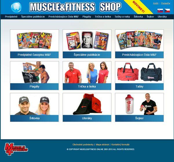 Značkové produkty MUSCLE&FITNESS si lze objednat do ČR a SR výhradně v M&F Shopu.