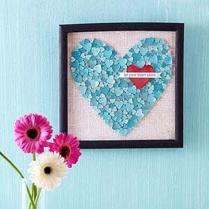 Shimmer Heart Wall Art