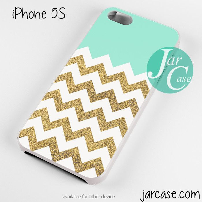 Blue Glitter Gold Chevron Phone case for iPhone 4/4s/5/5c/5s/6/6 plus