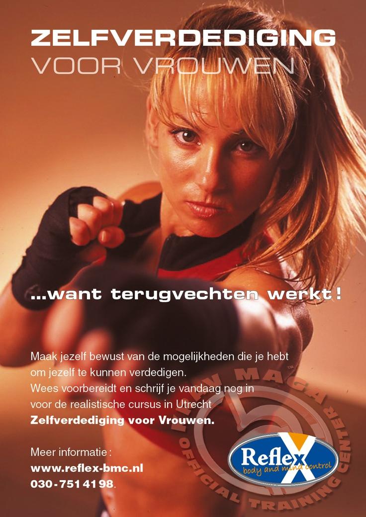 Poster zelfverdediging voor vrouwen