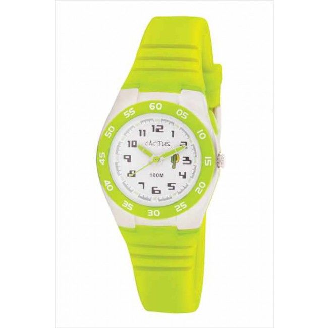 This super stylish watch from Cactus was one of our Toy Fair Finds. We love the lime green colour - so bright and fresh, suitable for both boys and girls! It features a silicone band, 35.7mm ABS case, Japanese Y121E1 quartz watch movement. It's also water resistant to 100m. #entropytoys #watch #childrenwatches #cactuswatches