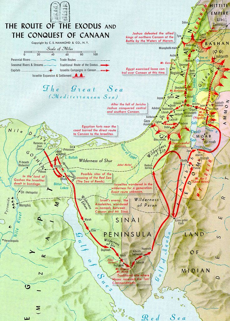 Route of the Exodus and the Conquest of Canaan
