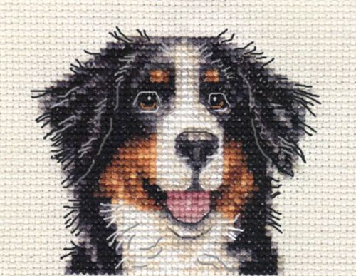 BERNESE-MOUNTAIN-DOG-Full-counted-cross-stitch-kit-All-materials-included