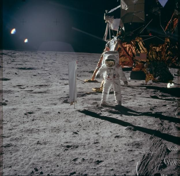 Neil Armstrong, the first man on the moon. (Project Apollo Archive)