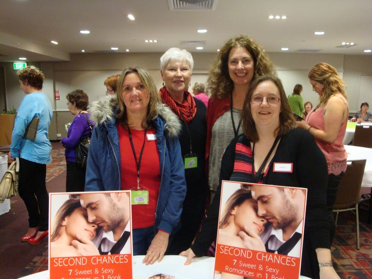 #RWNZ2014 book signing: (left to right) Authors Joanne Hill, Kris Pearson, Diana Fraser, Tracey Alvarez