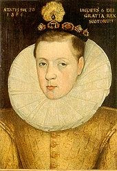 James VI (1566 - 1625). Son of Mary Queen of Scots and Henry Stuart, Lord Darnley. He married Anne of Denmark and had children.