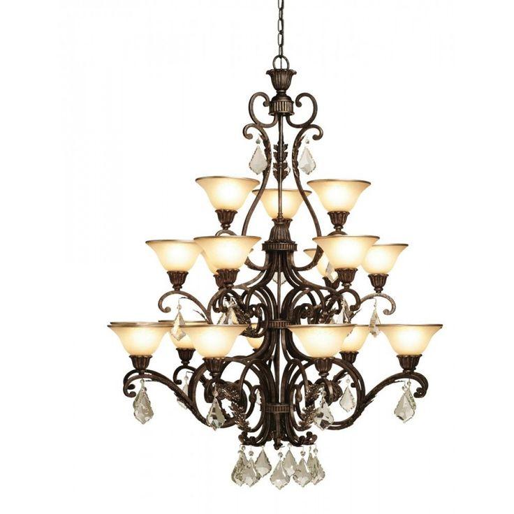 Carmelized Glass Chandelier   Montreal Lighting & Hardware