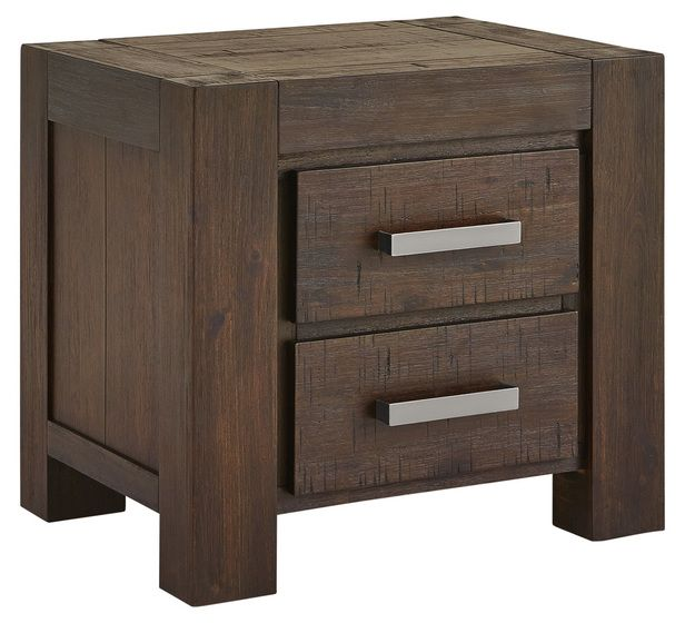 Kingston 2 Drawer Bedside Table