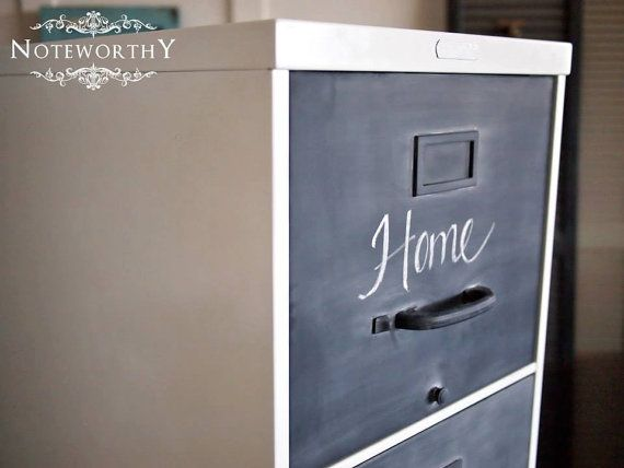 how to paint a steel filing cabinet 1