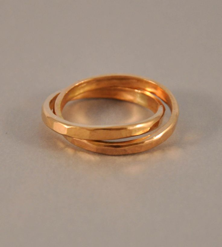 Hammered Gold Interlocking Ring by Ilsa Loves Rick on Scoutmob Shoppe. Two golden rings just might be better than five. We'd rock these with a holiday party getup.