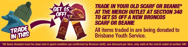Broncos NRL giving fans the opportunity to donate some warm clothes to a good cause and score a bargain at the same time