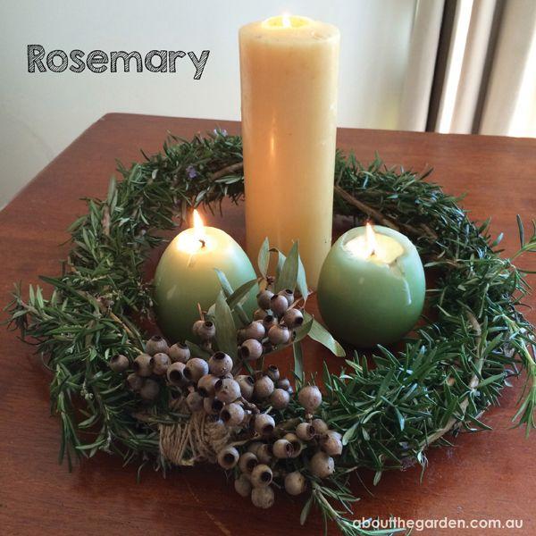 Rosemary wreath table centrepiece #anzac #australia #centenary #gallipoli #aboutthegarden #garden #herb