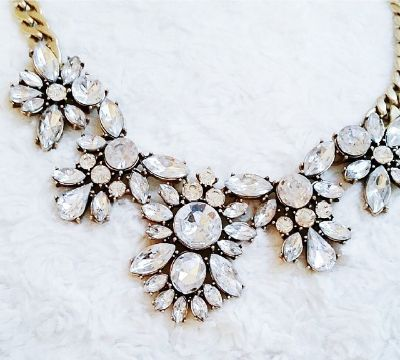 Join me to win the Glam and Glitter Statement Necklace from Happiness Boutique!