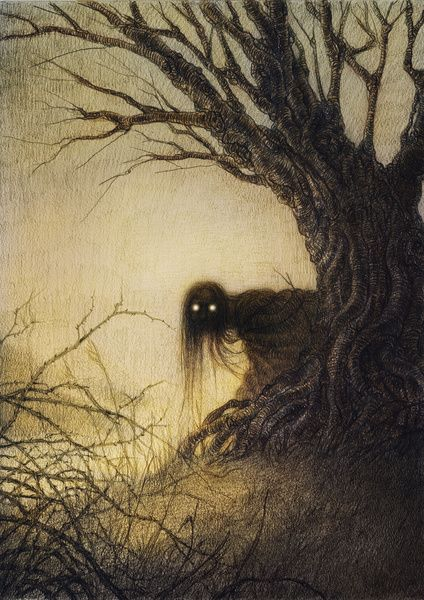 Banshee Art Print...creepy...but I love it
