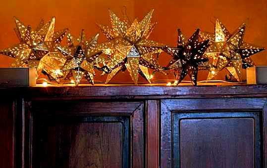Mexican tin star lights ~ Capture the Spirit of Mexico at http://LaFuente.com