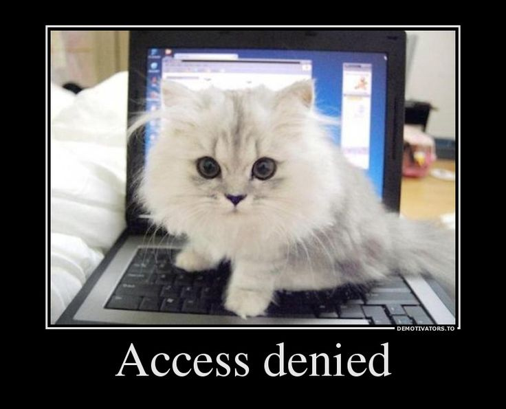 Access denied! - lol too funny!