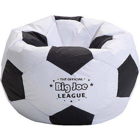 Big Joe Soccer Ball Bean Bag, White