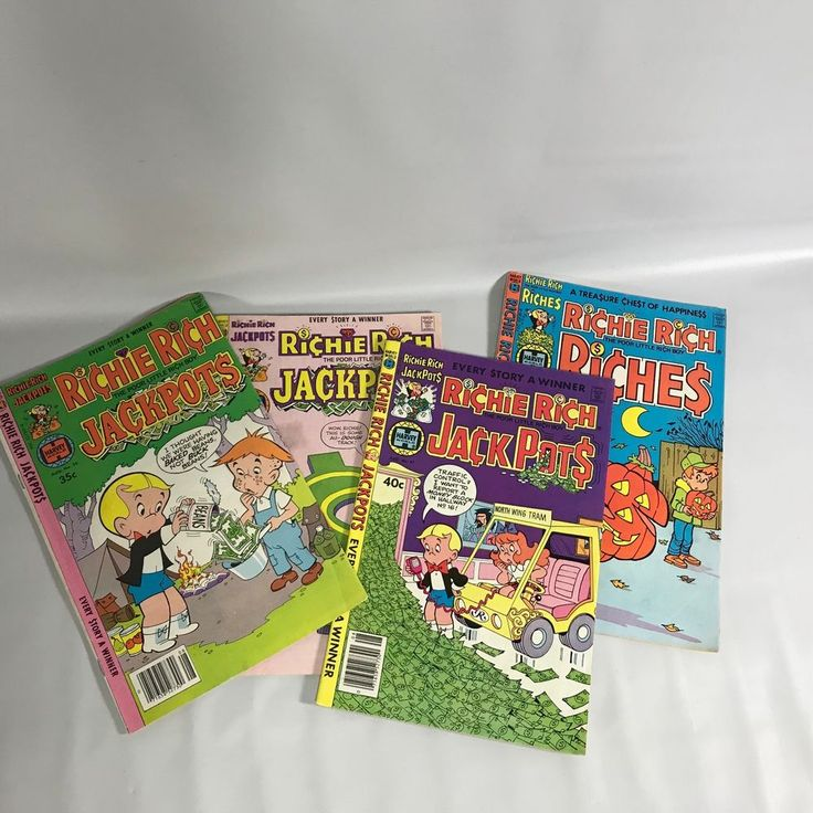 Richie Rich Comics Set of 4 Nos 35 36 47 56 1978-1982 Poor Little Rich Boy