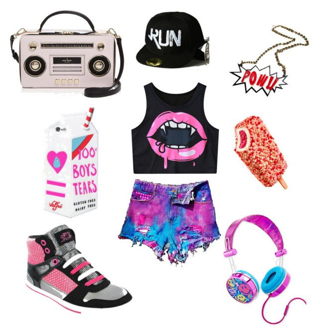 """Hip hop"" by celestefashion02 on Polyvore featuring Gotta Flurt, Chicnova Fashion, WithChic, Kate Spade and Lisa Frank"