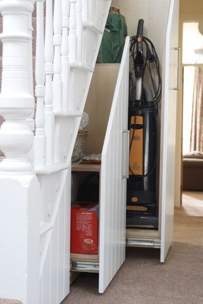 joel marshall furniture » Under Stairs Storage ... possibility for improved storage under our basement stairs