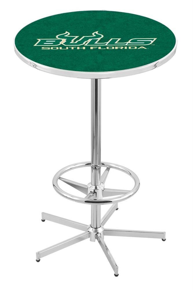 South Florida USF Bulls Chrome Pub Table With Foot Rest