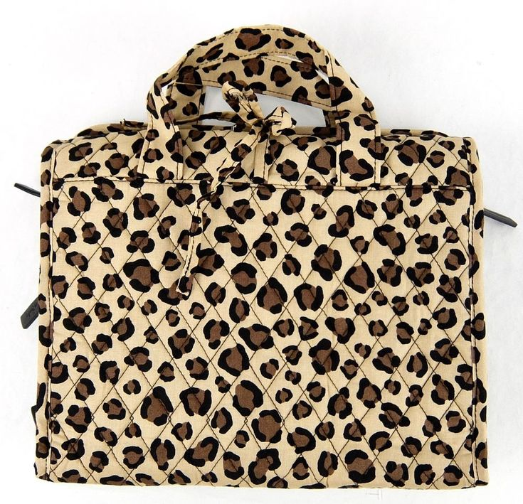 Vera Bradley Hanging Organizer Travel Toiletries Bag Brown Leopard Print 15829 #VeraBradley