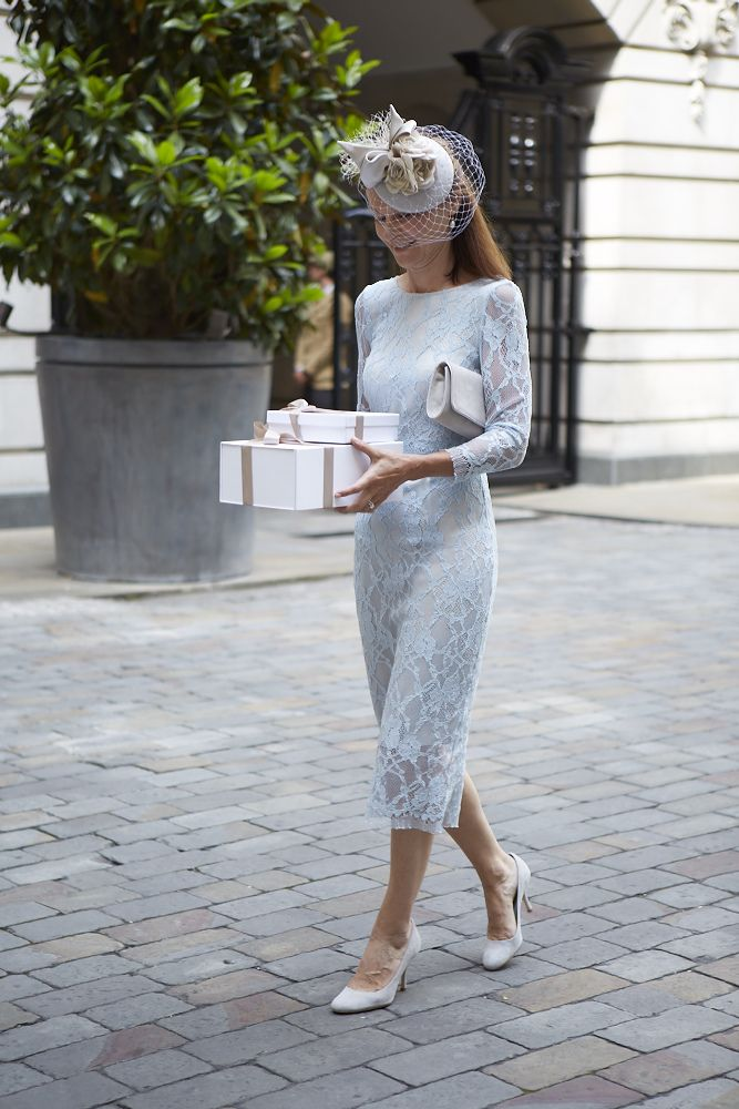 SUZANNAH Leavers Lace Shift Dress in Powder Blue, same style / fit as the Mink version. This mother of the bride looks lovely..x