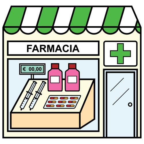 Pictogramas ARASAAC - Farmacia. Kelly Whitford has a board with many shops