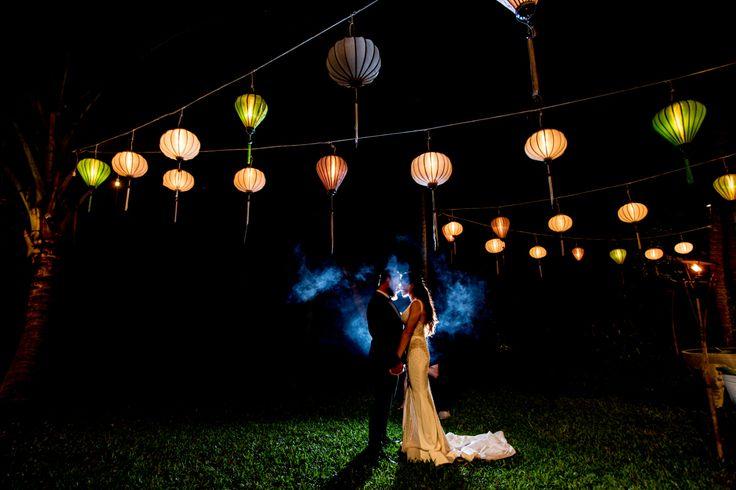 Hoi An lanterns in the garden