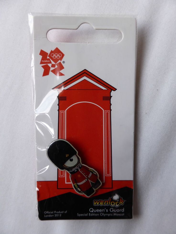 Official London 2012 Mascots - Wenlock - Queens Guard PIN  | eBay