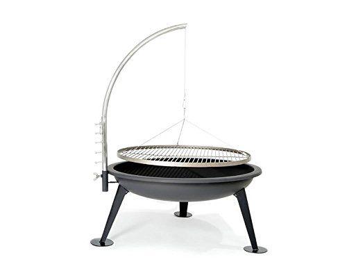 Die BBQ Feuerschale ist ein schöner Design-Grill und macht Lust auf einen schönen Sommer-Grillabend. Gefertigt aus Edelstahl. Inkl. Feuerhaken und Grillzange