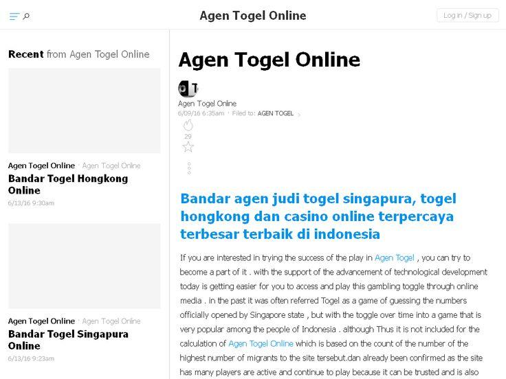 Agen Togel Online