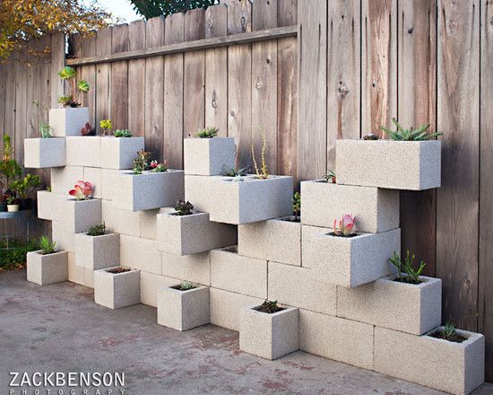 Best Cinder Block Planters Images On Pinterest Cinder Blocks - Awesome home projects created from concrete cinder blocks