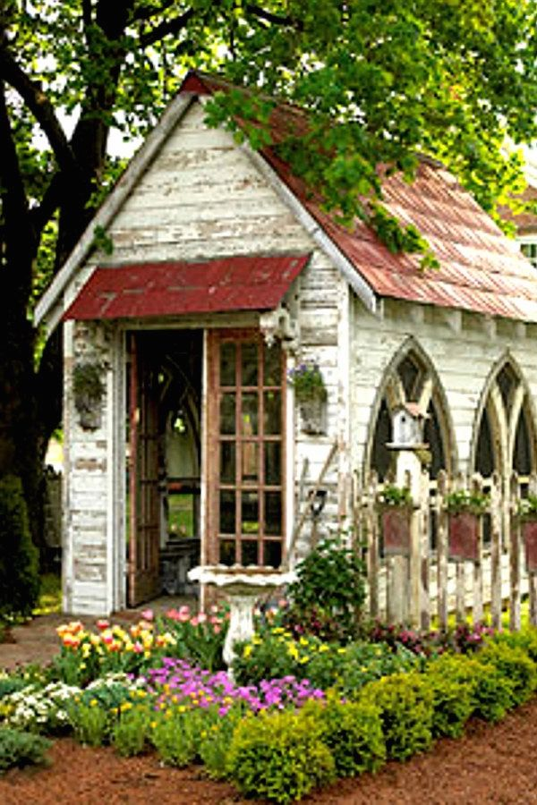 29 Creative Garden Shed repurposed designs for your landscaping