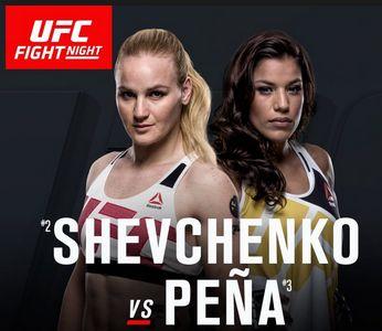 The UFC Fight Night Shevchenko vs. Pena weigh-in live