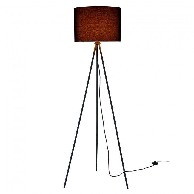 [lux.pro] Lámpara de pie - bombilla excluida - E27 / 40 W / 230 V - negro (150cm - 40 cm) - design - 41,60 €