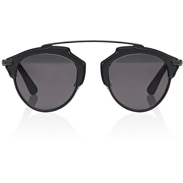 """Dior Women's \""""Dior So Real\"""" Sunglasses found on Polyvore featuring accessories, eyewear, sunglasses, glasses, oculos, see through glasses, matte lens sunglasses, matte glasses, etched glasses and logo sunglasses"""