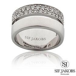 Sif Jakobs Savona sormus  rodinoitua sterlinghopeaa - SJ-R10142-CZ
