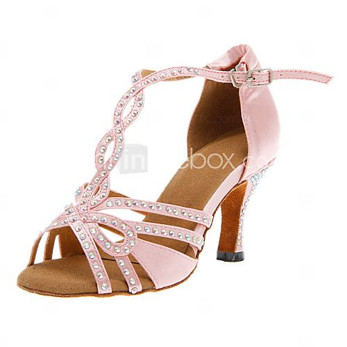 Chaussures de danse (Rose) - Personnalisable - Talons personnalisés - Satin - Danse latine/Salle de bal - EUR €29.39