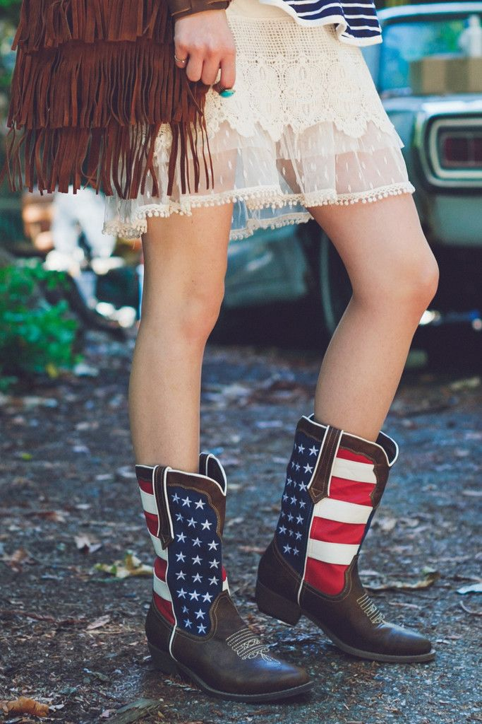 For the land of the free and the home of the brave! Patriotic Cowboy Boots!
