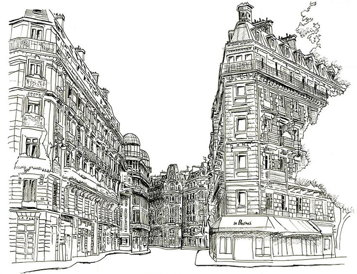 A Line Drawing Sketch From My Travel Journal From The